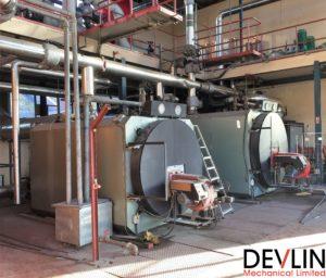 Existing boiler room - Downshire Hospital - Devlin Mechanical